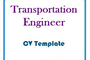 Transportation Engineer CV Template
