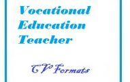 Vocational Education Teacher CV Formats