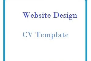 Website Design CV Template