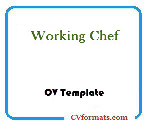 Working Chef CV Template
