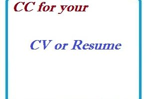cc for your CV or Resume