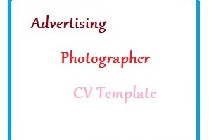 Advertising Photographer CV Template