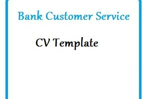 Bank Customer Service CV Template