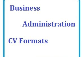 Business Administration CV Formats