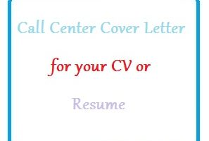 Call Center Cover Letter for your CV or Resume