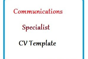 Communications Specialist CV Template