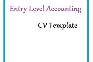 Entry Level Accounting CV Template