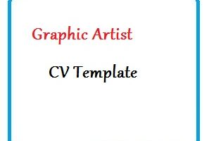 Graphic Artist CV Template