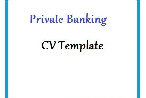 Private Banking CV Template