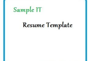 Sample IT Resume Template