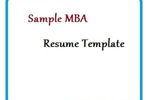 Sample MBA Resume Template