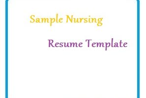 Sample Nursing Resume Template