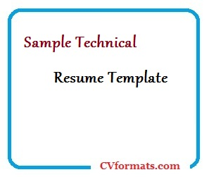 Technical Resume Template from cvformats.com
