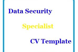 Data Security Specialist CV Template
