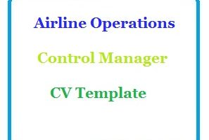 Airline Operations Control Manager CV Template