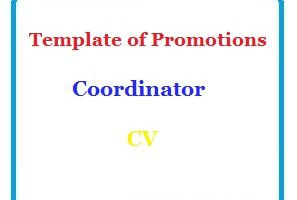 Template of Promotions Coordinator CV
