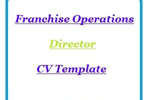 Franchise Operations Director CV Template