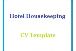Hotel Housekeeping CV Template