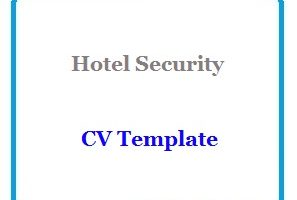 Hotel Security CV Template