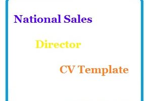 National Sales Director CV Template