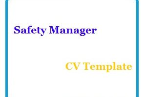 Safety Manager CV Template