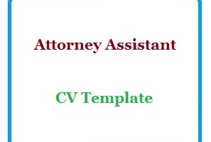 Attorney Assistant CV Template