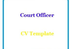 Court Officer CV Template