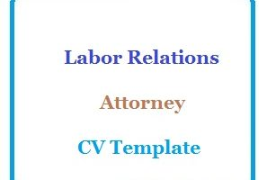 Labor Relations Attorney CV Template