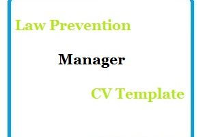 Law Prevention Manager CV Template