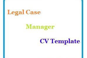 Legal Case Manager CV Template