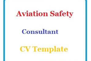 Aviation Safety Consultant CV Template