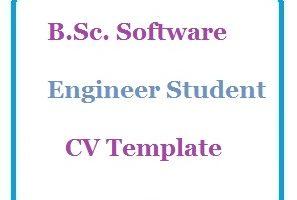B.Sc. Software Engineer Student CV Template
