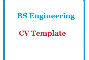 BS Engineering CV Template