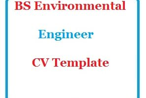 BS Environmental Engineer CV Template
