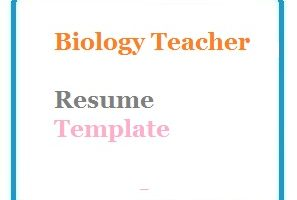 Biology Teacher Resume Template