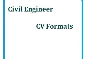 Civil Engineer CV Formats