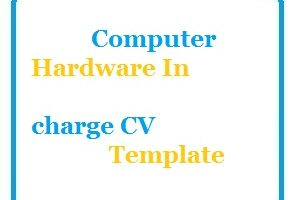 Computer Hardware In charge CV Template