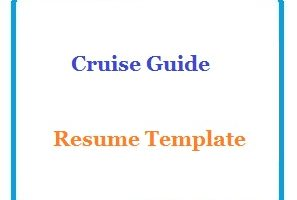Cruise Guide Resume Template