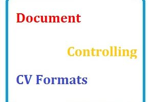 Document Controlling CV Formats