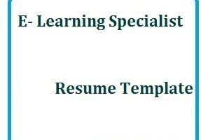 E-Learning Specialist Resume Template
