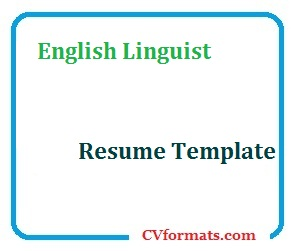 English Linguist Resume Template