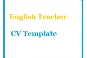 English Teacher CV Template