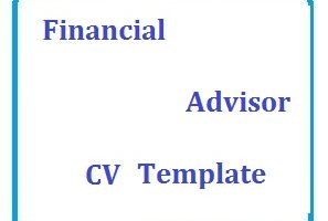 Finance Advisor Cv Template