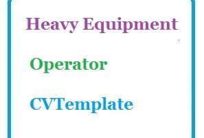 Heavy Equipment Operator CV Template