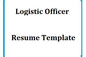 Logistic Officer Resume Template