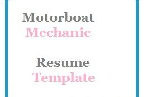 Motorboat Mechanic Resume Template