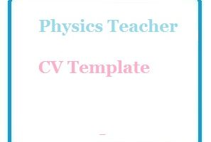 Physics Teacher CV Template