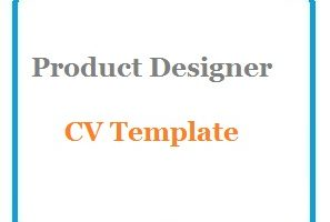 Product Designer CV Template