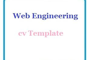 Web Engineering cv Template
