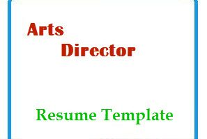 Arts Director Resume Template